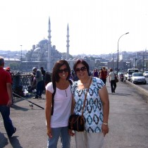 Mom visits me in Istanbul.