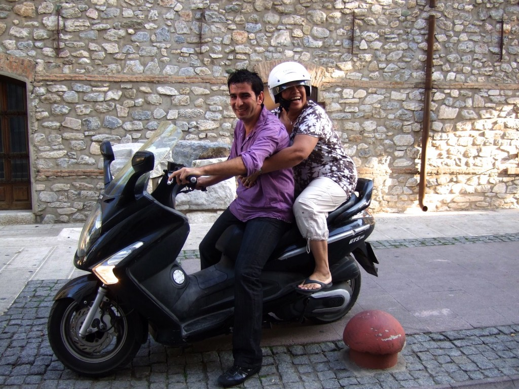 Mom hitches a ride to Efes.
