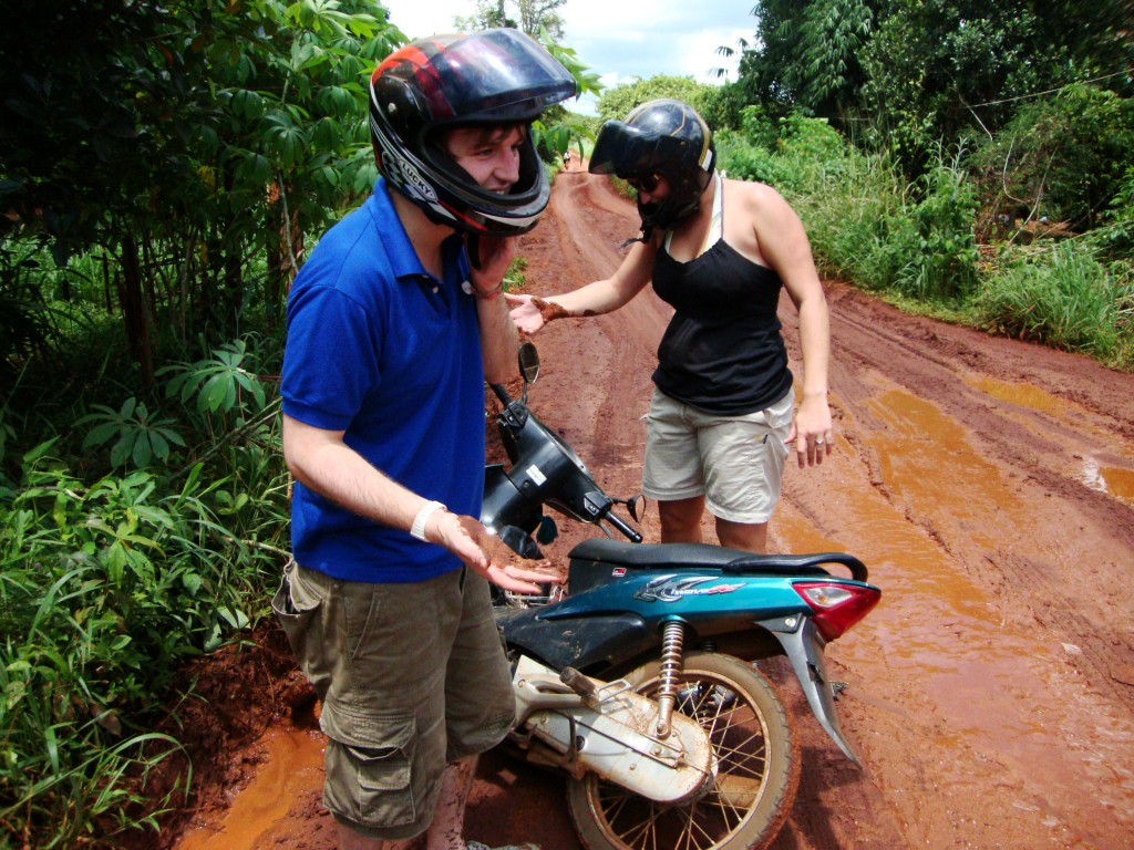 Motorbiking in Cambodia