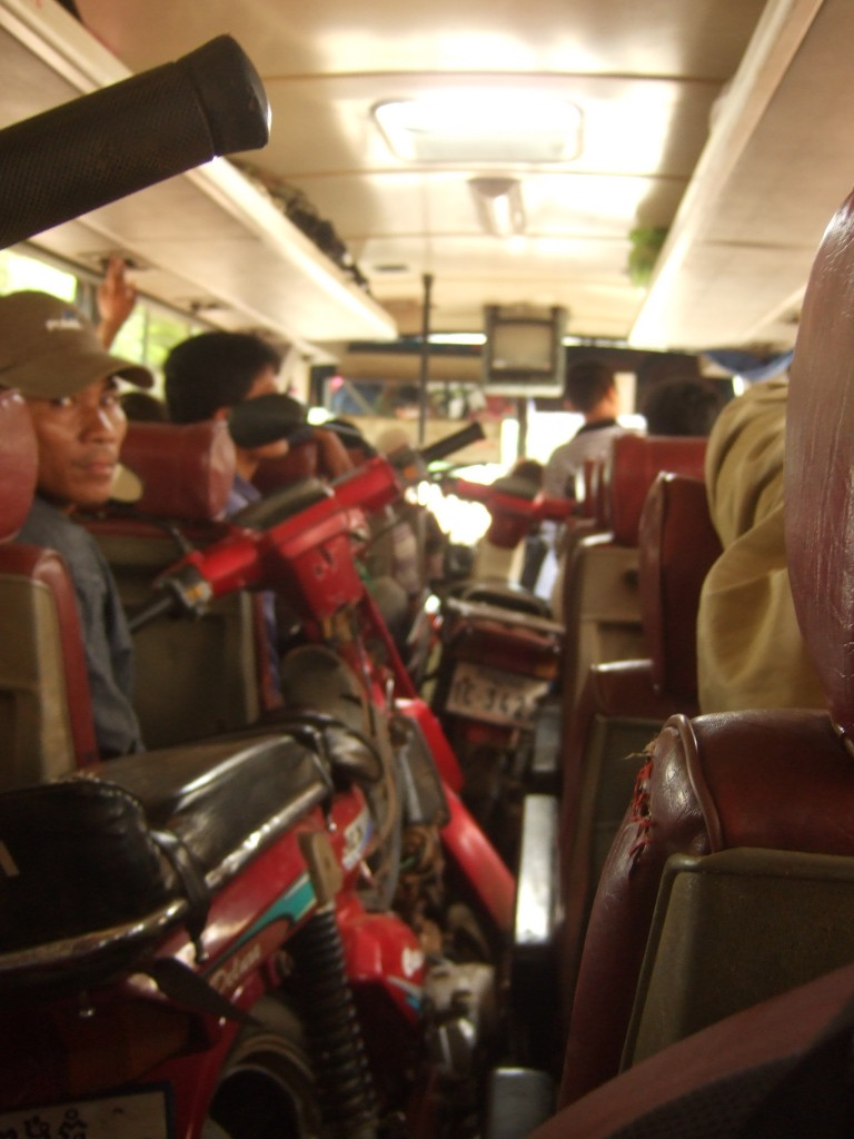 Cambodian bus travel.