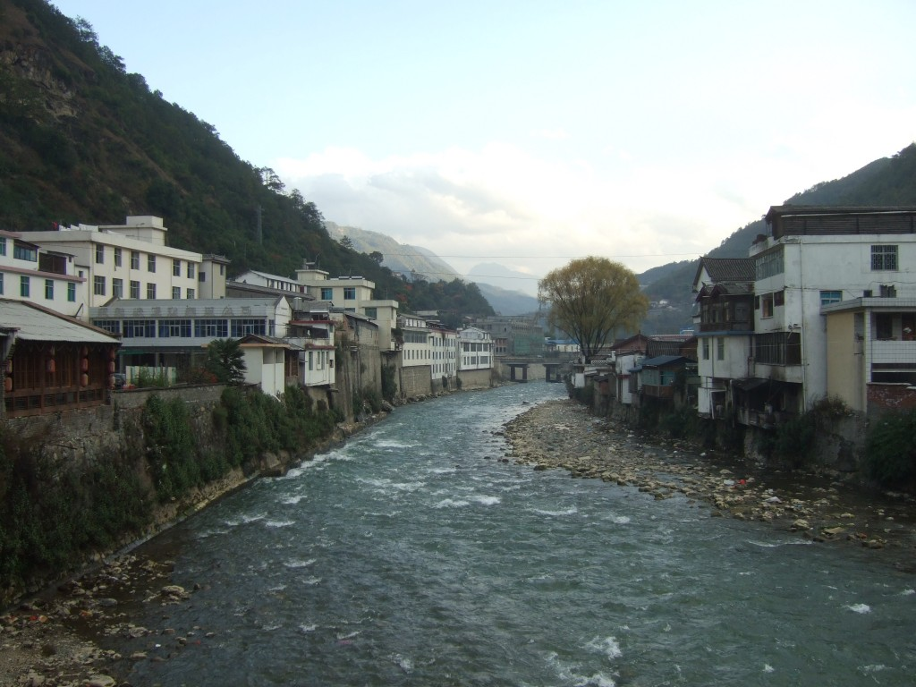 The city of Qiaotou, the start of the Tiger Leaping Gorge trek