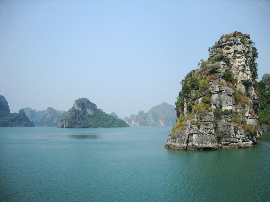 Secluded area of Halong Bay