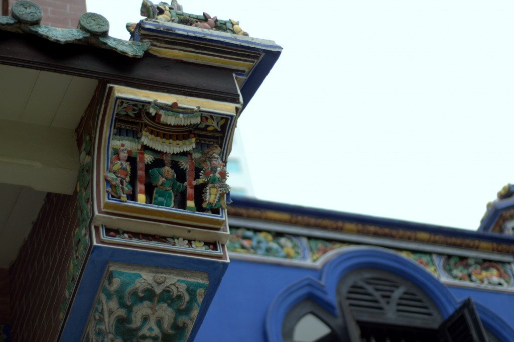 Detailed design of Cheong Fatt Tze Mansion's roof