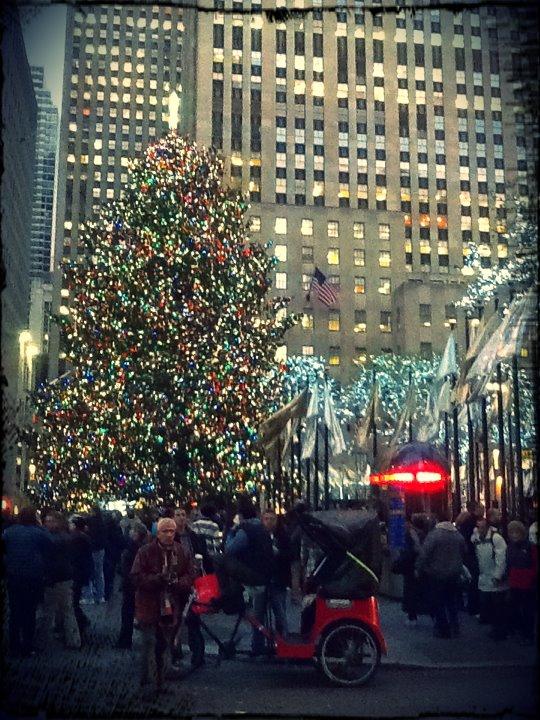 The famous Rockefeller Center Tree