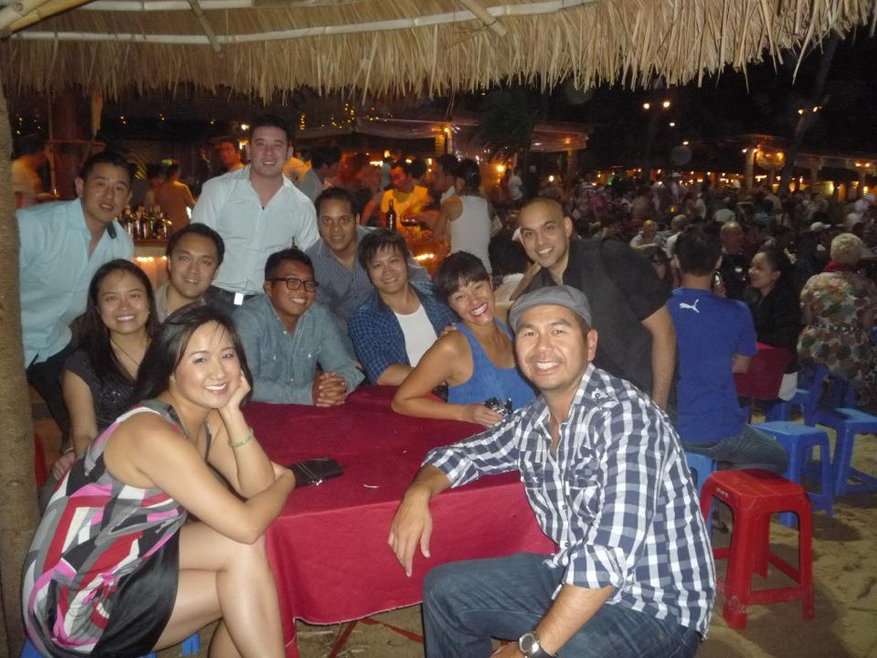 Ringing in the New Year with friends in Nha Trang, Vietnam