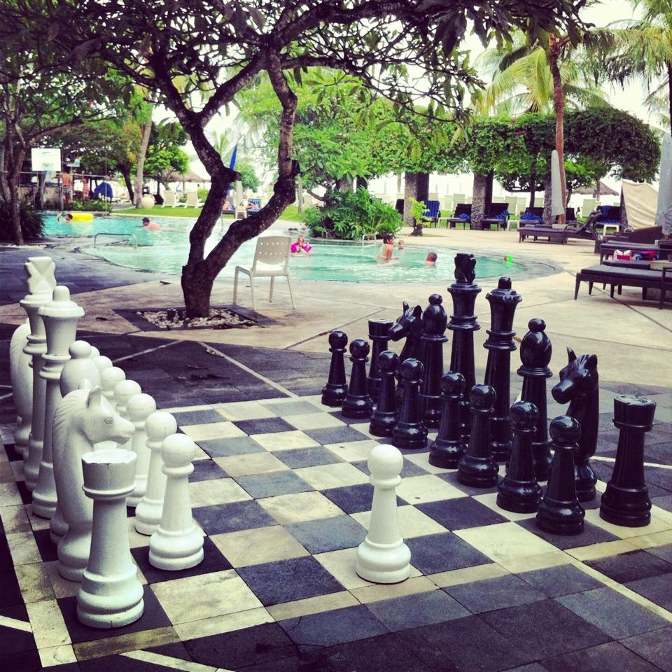 Giant chess, a great way to spend an afternoon