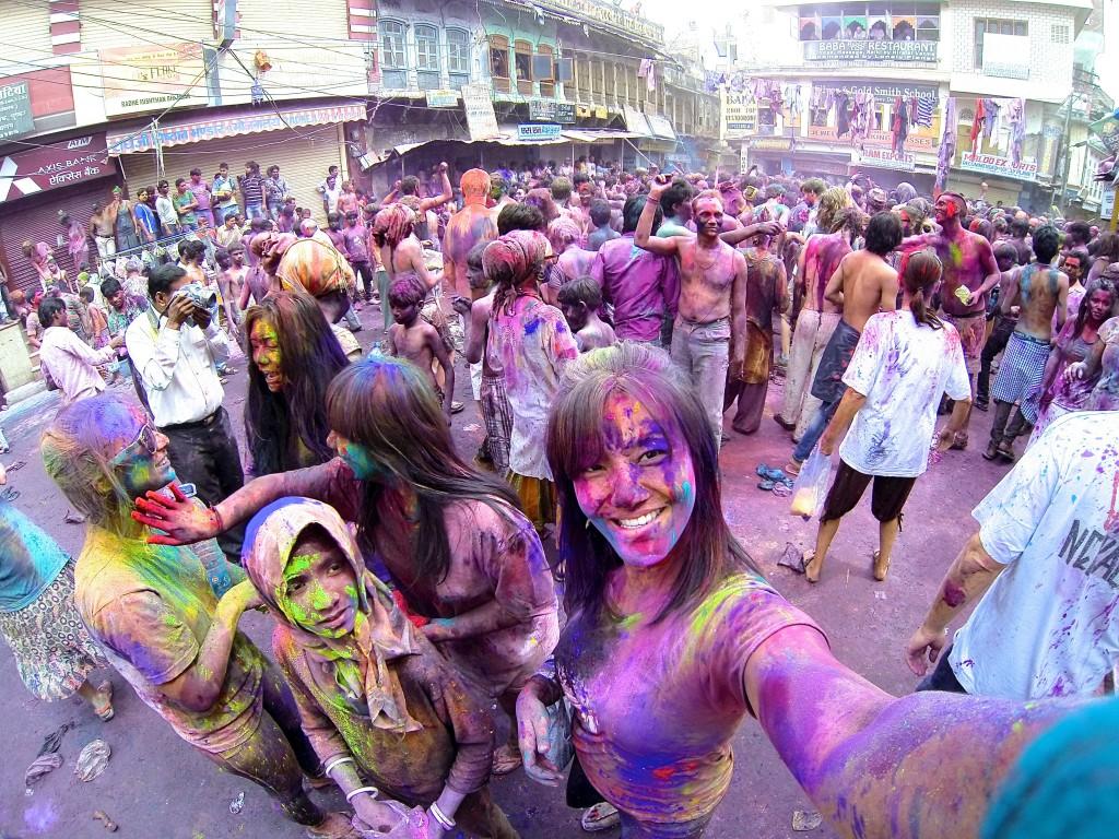 Celebrating Holi in Pushkar, Rajasthan