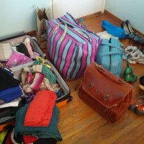 How o pack your life into two suitcases?