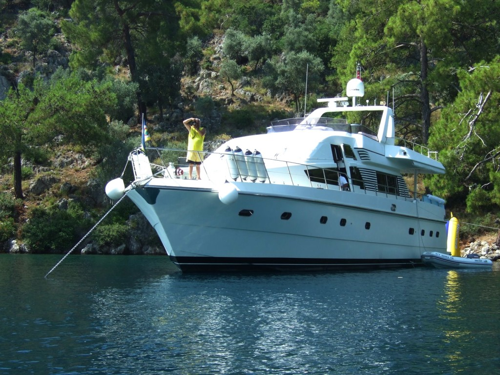 My Turkish family's private boat. On the Mediterranean.