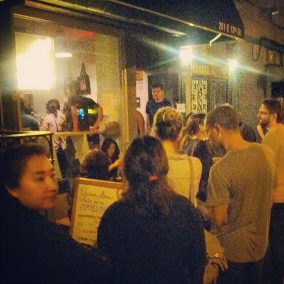 A typical line outside Momofuku's Milk Bar