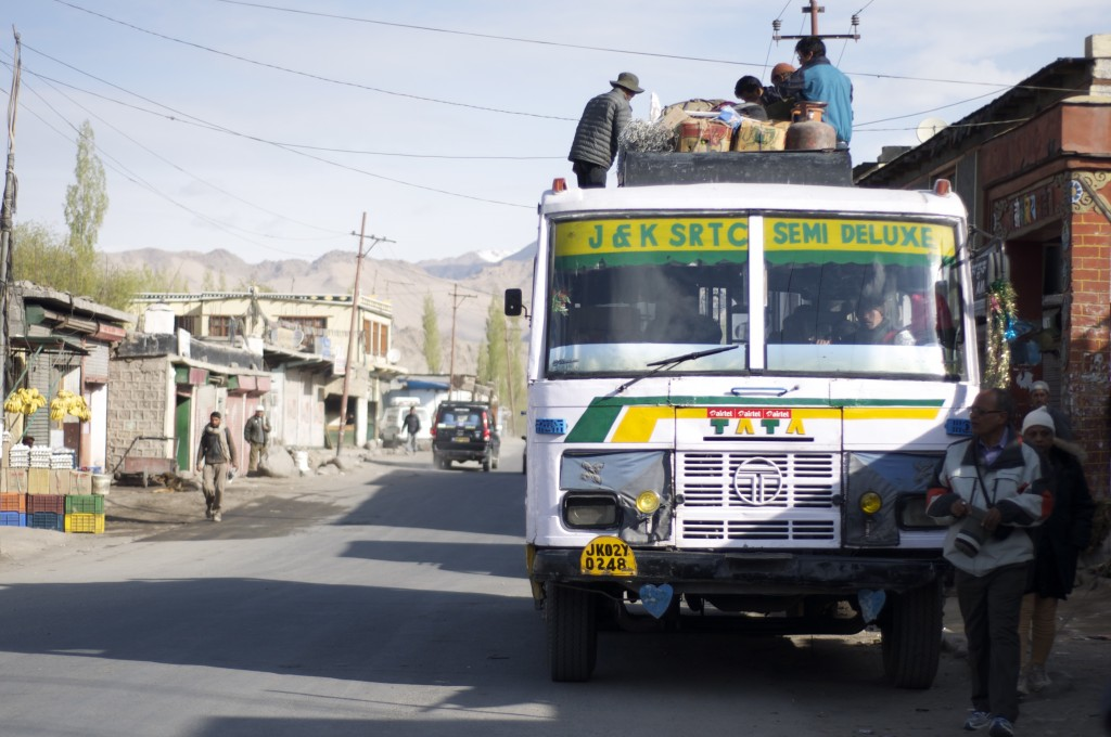 Grab a local bus to venture deeper into Ladakh.