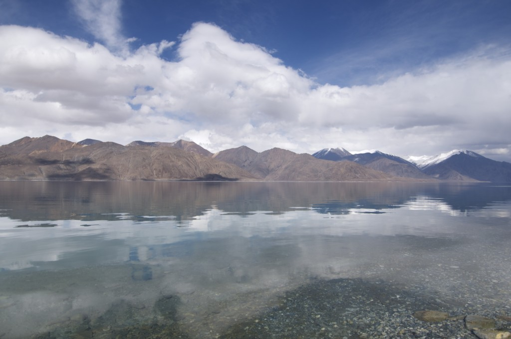 The stunning view at Pangong Lake.
