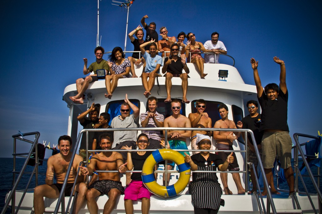 Awesome dive trip group!