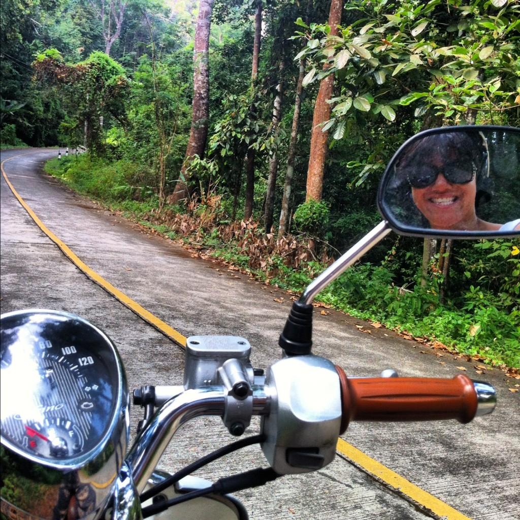 Exploring on motorbike.