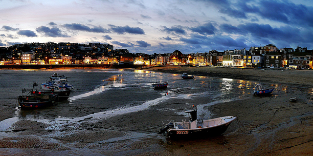 St. Ives after dark courtesy of Robert Pittman