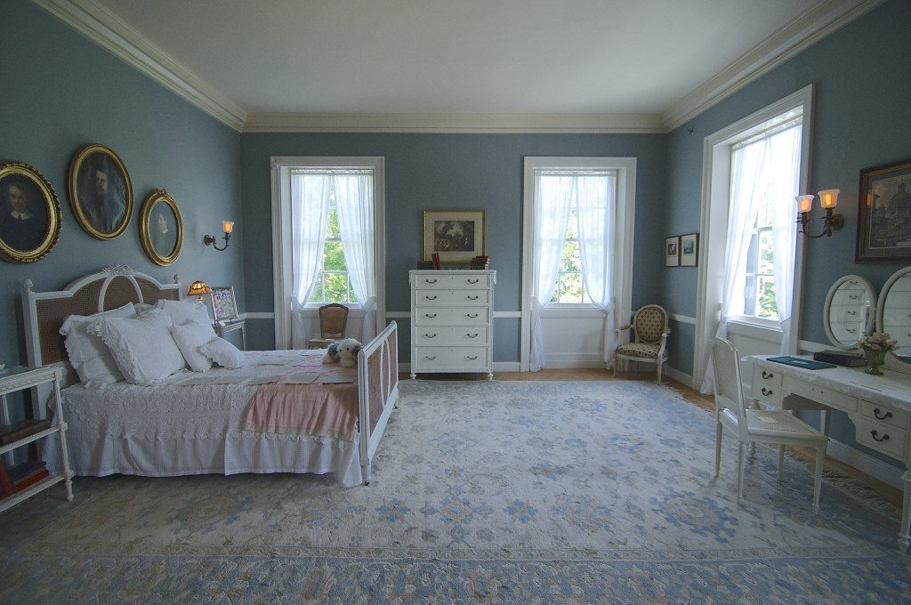 Edith Wharton's bedroom at The Mount where she wrote The House of Mirth and Ethan Frome.
