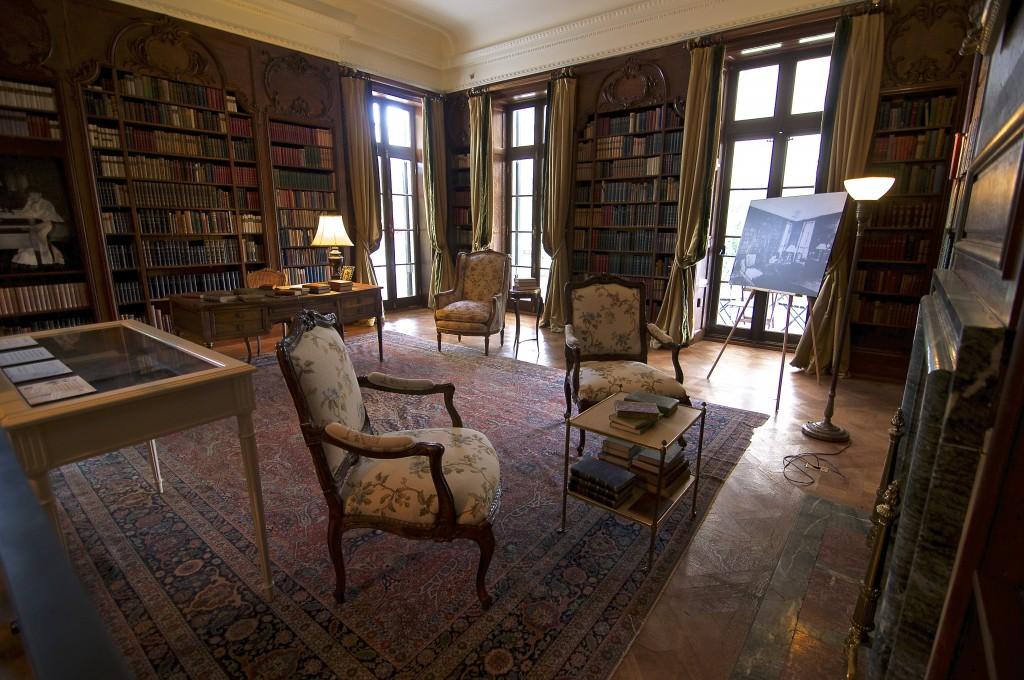 Edith Wharton's impressive library.