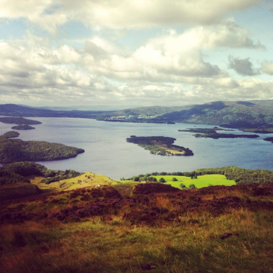 Atop Conic Hill in Loch Lomond, Scotland.