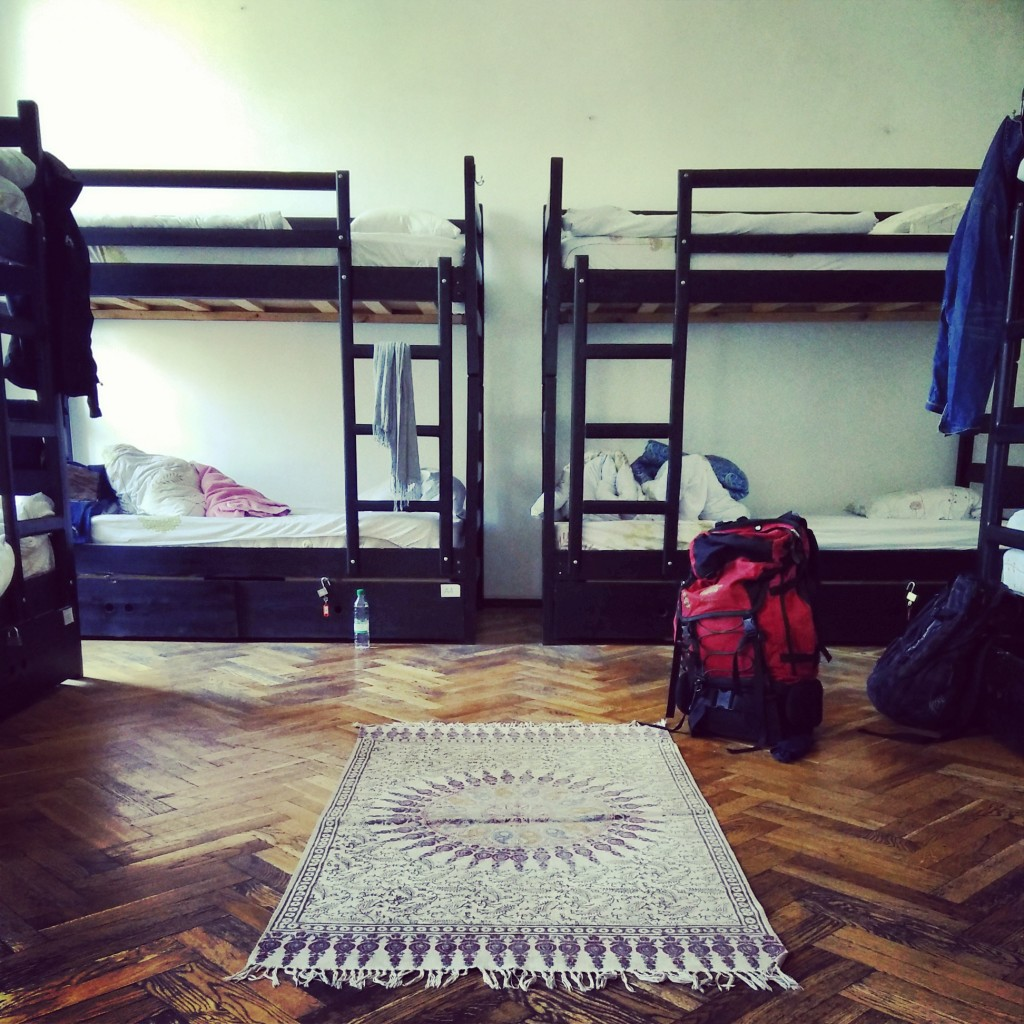 The dorm room at BoomBully Hostel.