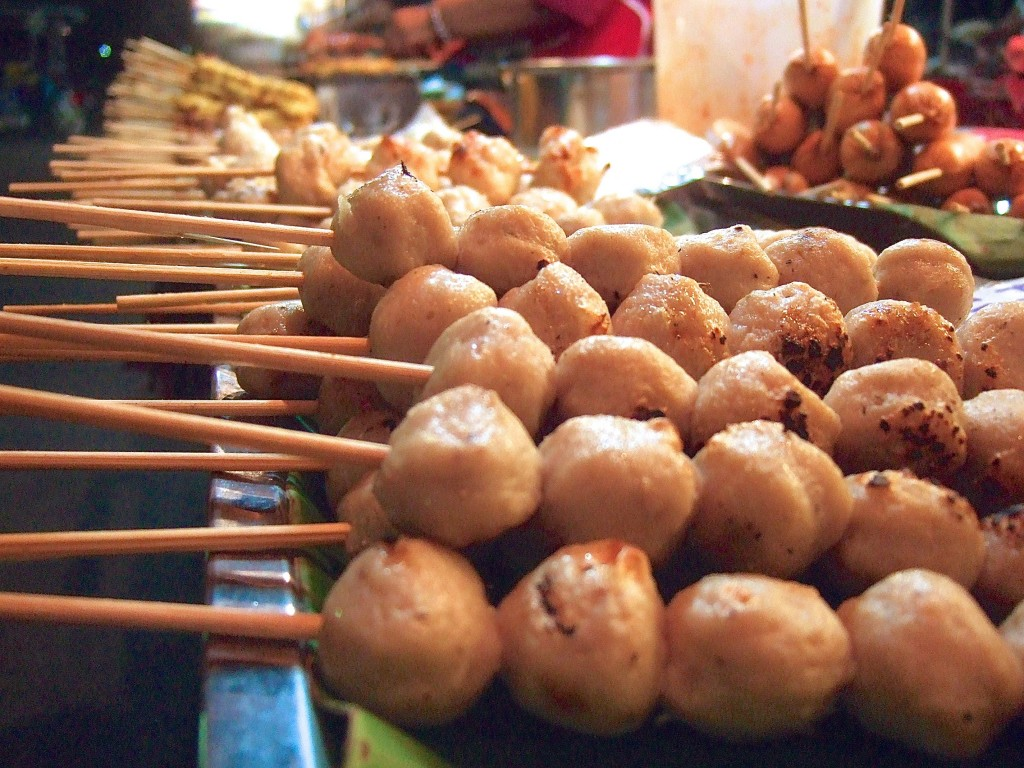 Thailand's many grilled street food options.