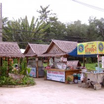 Typical Thai street food stalls.