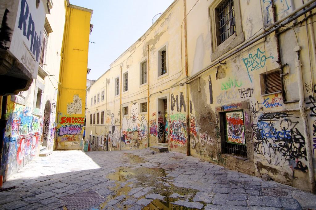 Street scene in Naples, Italy.