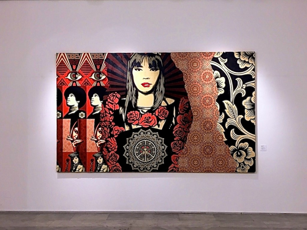 Shepard Fairey at the Pallazzo della Arte in Naples.