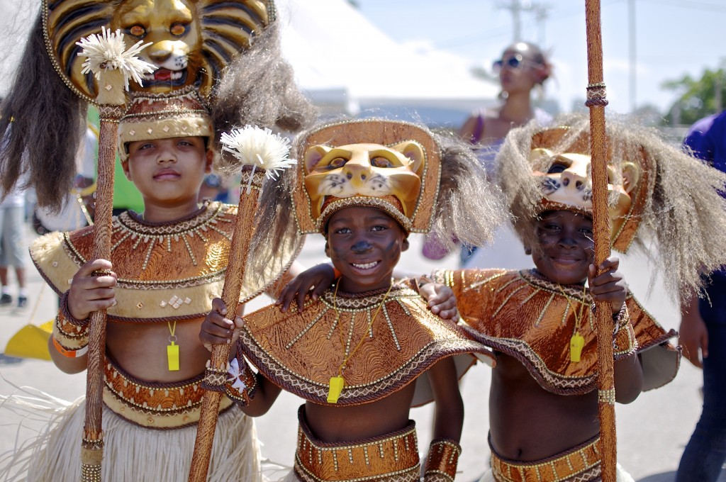 Kids at Carnival in Trinidad