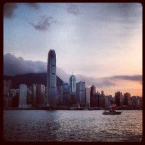 It's always a stunning view on the Star Ferry.