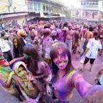 Color Bombed at India's Holi Festival