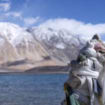 Last look at Pangong Lake.